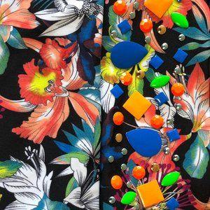 A266 Heidi Klum One Piece Bikini Size S With Beads